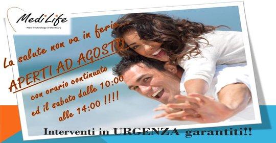 Sorridi…la Clinica MediLife NON VA IN FERIE!!!  :)
